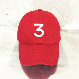 New Popular 2016 Singer Chance The Rapper Chance 3 Cap Black Pink White Red Letter Embroidery Baseball Cap Hip Hop Snapback Gorras Casquette
