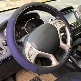 Nouveaux sièges d'automobile en Ligne-Accessoires intérieurs Automobiles Sièges de sièges TIROL T21806 un nouveau siège de voiture Noir Blue 14pcs / Set Car Seat Covers Set Universal