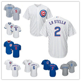 Chicago Cubs Jersey Stitched Womens Youth White Gold 2 Tommy La Stella 5 Albert Almora 6 Edwards Jr.7 Jeimer Candelario Ian Happ