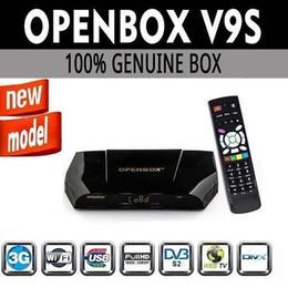 Wholesale 1PCS New Arrival Openbox V9S DVB S2 HD Satellite Receiver Support USB Port WEB TV CCCAMD NEWCAMD Miracast IPTV Box Set Top Box
