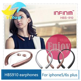 Wholesale 2016 New HBS Headset HBS910 Earphone Sports Stereo Bluetooth CSR best quality Headphones With Package for iphone plus s7 edge