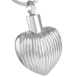 IJD8349 Stainless steel Love your heart cremation pendant jewelry for ashes memorial urn family and pet animal pendant chain