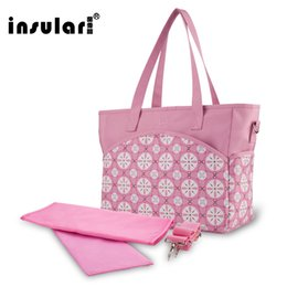 Wholesale Waterproof Fashion Floral Printing Baby Diaper Bag Multifunctional Mommy Bag