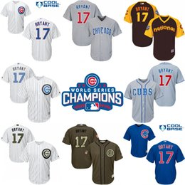 Wholesale 2016 World Series Champions patch Youth chicago cubs Kris Bryant kids Authentic baseball jersey Embroidery logos stitched size S XL