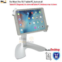 Universal Tablet Holder Mount tablet lock stand tablet pc stand fit for 8-10 inch aluminum desk holder stand for ipad samsung tab