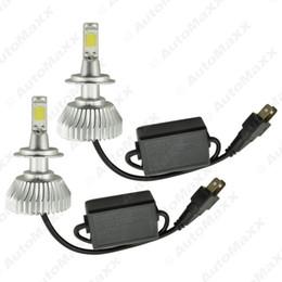FEELDO Super Bright H7 6000K Blanc 60W 6400LM voiture COB LED Phare Kit Brouillard Ampoules Lampe au xénon # 2402 à partir de blanc xénon conduit h7 fabricateur