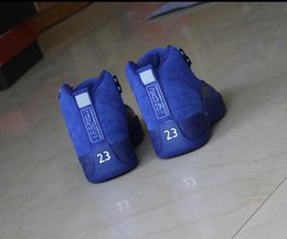 Wholesale With Box Air Retro XII Suede Blue Man Women Basketball Shoes AA High Quality Size USA Sneakers