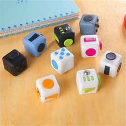 Wholesale Newest Fidget cube the world s first American original decompression anxiety Toys Best Christmas Gift DHL shipping