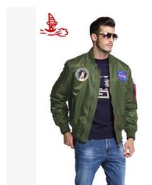 Promotion voler v MA-1 marine veste volante Nylon épais hiver letterman varsity american college bombardier vol veste pour les hommes Livraison gratuite