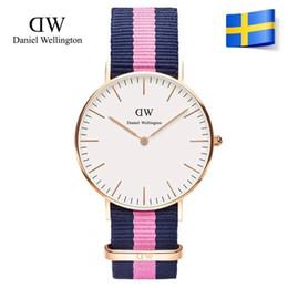 Descuento mujer del estilo de reloj resistente al agua Relojes Daniel relojes 2017 moda de lujo marca reloj estilo Nylon correa 36MM ocio impermeable mujeres reloj Relojes señoras reloj reloj reloj