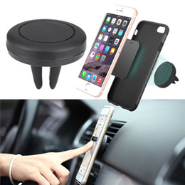 80pcs Logo printing on Magnetic Universal Air Vent Mount Car Phone Holder Magnetic Car Holder For iPhone