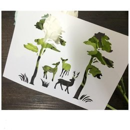Reusable stencils for kids Masking template For Scrapbooking,cardmaking,painting,DIY cards-The deer in the forest 123