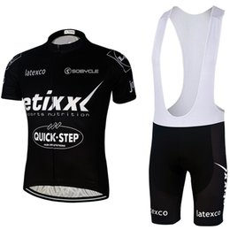 Wholesale 4 colors quick step bike wear bibs shorts set Ropa Ciclismo quick dry team etixx cycling jersey bike shorts gel BICYCLING Maillot Culot