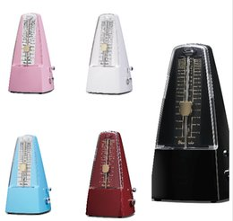 Wholesale Plastic Pyramid traditional Tempo Mechanical Metronome colorful Music Metronomes Piano Violin Guitar Use Instrument