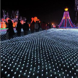 Promotion rgb led net Lumières de rideau de 10 * 8m Net LED Light String 1920pcs puce led lumières lumières d'ornement de Noël Flash Colored Fairy décor de mariage