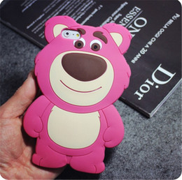 Wholesale 3D Cartoon Soft Silicone Phone Case Strawberry Bear for xiao mi redmi X A PRO prime back cover for Redmi Note