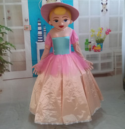 100% real photos of beautiful lady mascot costume pink dress Princess mascot costume for adult to wear