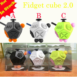 High Quality Luxury 12 Sides Fidget Cubes 2.0 relieves anxiety polytope sphere Toys anti stress relief Magic cube ship one day In Stock