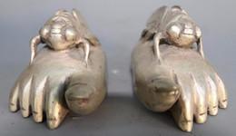 Chine Main Martelé cupronickel pieds décoré avec antique cigale