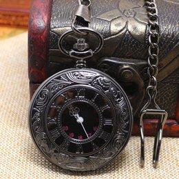 Collar de cadena larga P427C del reloj de bolsillo noble clásico retro negro liso negro retro del vintage de la antigüedad del bronce del vintage desde collar de cadena pin fabricantes