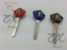 6pcs For Motorcycle Brand New Blank Key Uncut Blade For Suzuki GSXR 600 750 1000 SV650 VStrom