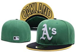 Wholesale and retail Top Quality Mens Baseball Fitted Hats Women s Sport Oakland Athletics full Closed on field caps A S logo embroidery