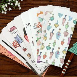 Papelería sobre de papel en venta-Las PC al por mayor-5 / las tarjetas de felicitación creativas creativas de la tarjeta de felicitación de la tarjeta de felicitación de la porción envuelven los materiales de los efectos de escritorio de los efectos de escritorio
