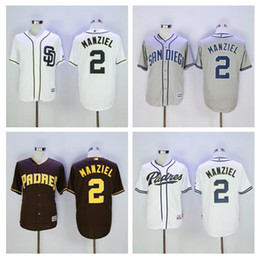 johnny manziel jerseys Promotion Hommes San Diego Padres Jersey # 2 Johnny Manziel Maillot de baseball White Home Grey Road Bleu marine Alternatif jerser Johnny Manziel Livraison gratuite