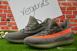 Wholesale 2017 Cheap Online Kanye West Boost V2 Season Stealth Best SPLY Running for Men Online For Sale Eur US5 With Box