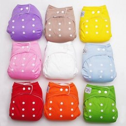 New 10 PCS+10 INSERTS Adjustable Reusable Lot Baby Washable Cloth Diaper Nappies baby Training Pants Soft Baby