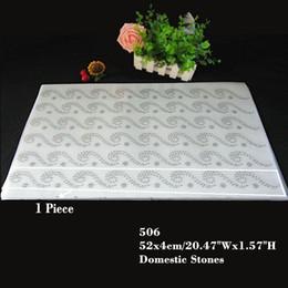 20.5 Inches 30pcs lot Hotfix Rhinestone Heat Transfer Design Iron On Motif Wave Lace Series