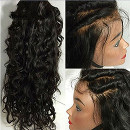 Fast Shipping Natural Color Free Part Loose Wavy Lace Front Wigs With Baby hair Heat Resistant High Density Wigs for Women