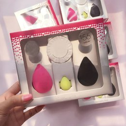 Wholesale 1 Kit Beauty Solid Original Packing Makeup Sponge Brush Cleanser Latex Free Cosmetic Puff Clean Soap Foundation Blender Face Tool