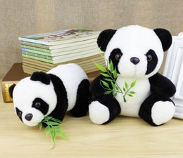 Oreillers panda en peluche en Ligne-2pcs / set Panda Peluches Jouets Fillettes Panda Poupées Soft Panda Pillows Kids Toy Doll