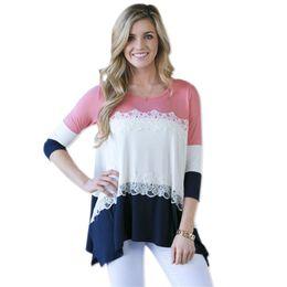 PT14 t shirt women lace up flower mesh plus size summer cotton