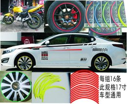 Wholesale 16 adhesive Strips M High quality Reflective Car Motorcycle Rim Stripe Wheel Decal Tape Stickers For Auto Car Motorcycle
