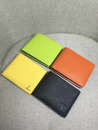 Wholesale New Genuine Leather Men s and Women s Purse Wallet Card colors choose to send box serial card