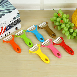 Wholesale Multifunction Ceramic Peeler Best Antioxidant Ceramic Multicolor Plastic Vegetable Tools Fruit Parer Y Shaped Ceramics Apple Potato Peeler