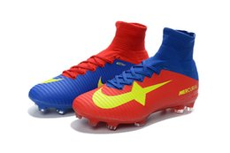 Wholesale Hot New superfly Soccer boots FG mens soccer shoes cleats cheap mercurial superfly fg football boots Soccer cleats