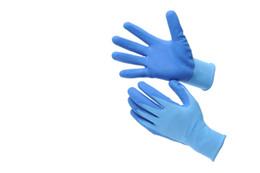 hand gloves pu coated nylon work gloves Heavy Duty Nitrile foam nitrile gloves 13 gauge polyester shell provides stretch