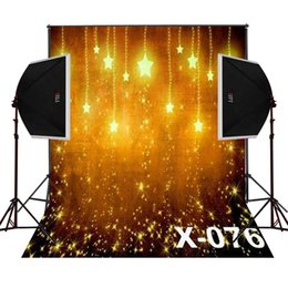 golden shine stars photo background for baby newborn photography studio digital cloth vinyl backdrops camera fotografica photos props