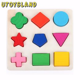 Wholesale UTOYSLAND D Geometric Shape Cognition Classification Matching Board Panels Jigsaw Puzzle Wooden Childhood Early Educational Toy