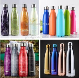 Wholesale Swell thermos vacuum flask Expansion bottle of coke bottle coffer cup sports kettle vacuum marble texture flask bottle b534