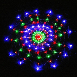 2017 rgb led net Vente en gros 1.2Mx1.2M AC110 / 220V LED Net String Light, fée de Noël lumières Décoration fête Livraison gratuite rgb led net autorisation
