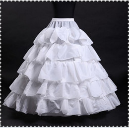 2017 New Wedding Petticoats Hot sale 50% off Cheap White Ball Gown 4-Hoop 5-Layer Slip Underskirt Crinoline For Wedding Dresses