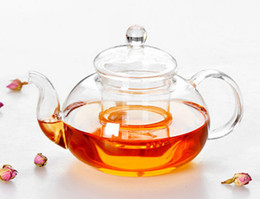 1PC New Practical Resistant Bottle Cup Glass Teapot with Infuser Tea Leaf Herbal Coffee 400ML J1010-1