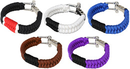 Wholesale Fashion brazilian jiu jitsu belt rank paracord bracelet alloy adjustable shackle brazilian fishtail weave outdoor survival bracelet