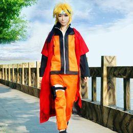 Naruto Uzumaki cosplay costumes Naruto Shippuden cloak Japanese anime Naruto red cloak halloween costume Masquerade costume