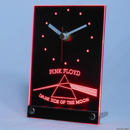 Promotion gros n Vente en gros-tnc0146 Pink Floyd rock n rock bar table bureau 3D LED horloge
