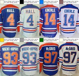Wholesale 2016 Edmonton Men s Authentic Taylor Hall Jordan Eberle Ryan Nugent Hopkins Hockey Jersey